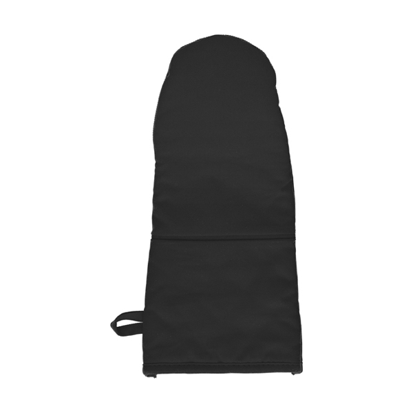 Cotton/neoprene oven glove. in black