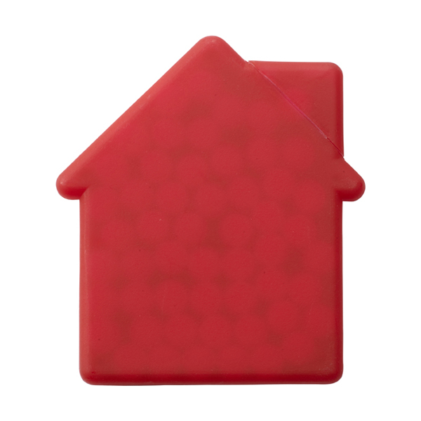 House shaped mint card in red
