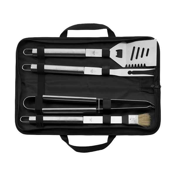 4pc Barbecue set in black