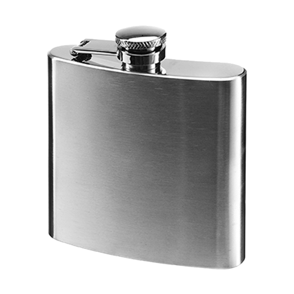 6oz Stainless steel hip flask in