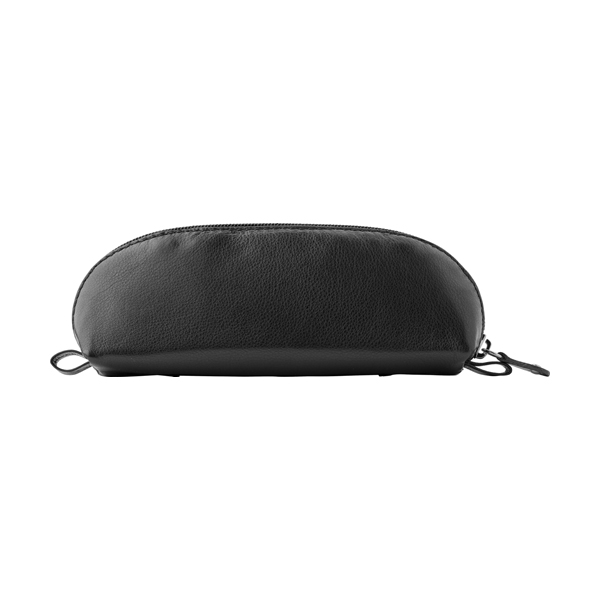 Leather Charles Dickens® pencil case. in black