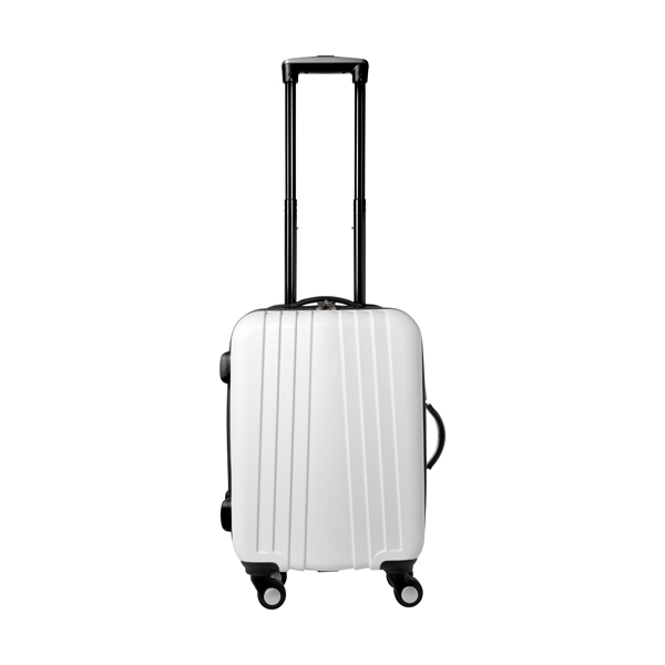 ABS trolley with 4 spinner wheels. in black