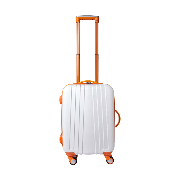 ABS trolley with 4 spinner wheels. in orange