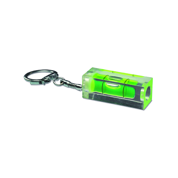 Spirit level with keychain in transparent