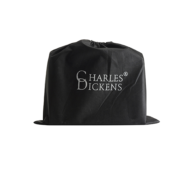 Charles Dickens briefcase in black