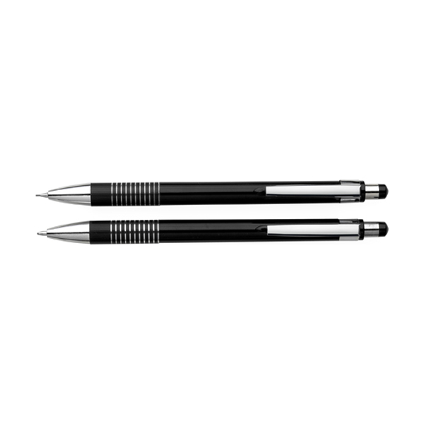 Ballpen & pencil set in silver