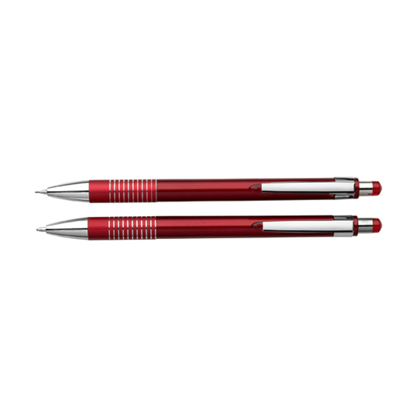 Ballpen & pencil set in red
