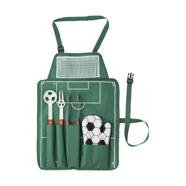 5pc Football BBQ set. in green