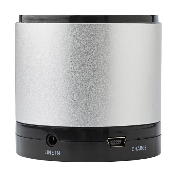 Aluminium bluetooth speaker. in black-and-silver