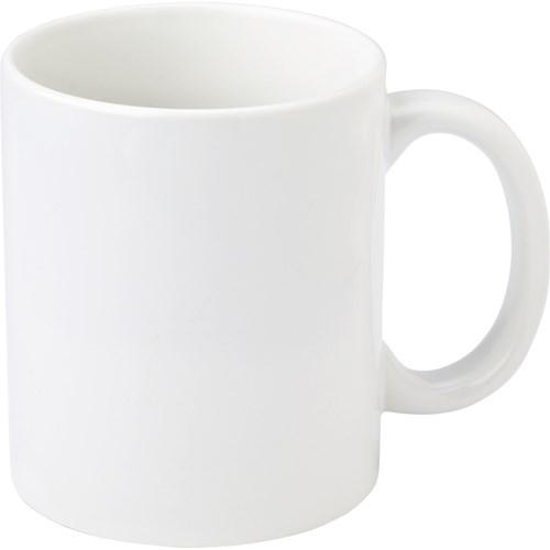 11oz white photo mug. in white