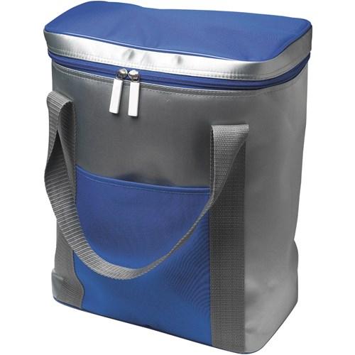 Cooler bag for six bottles in cobalt-blue
