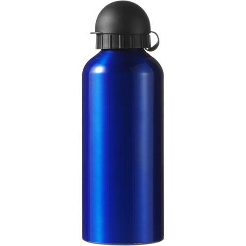 Metal drinking bottle in cobalt-blue