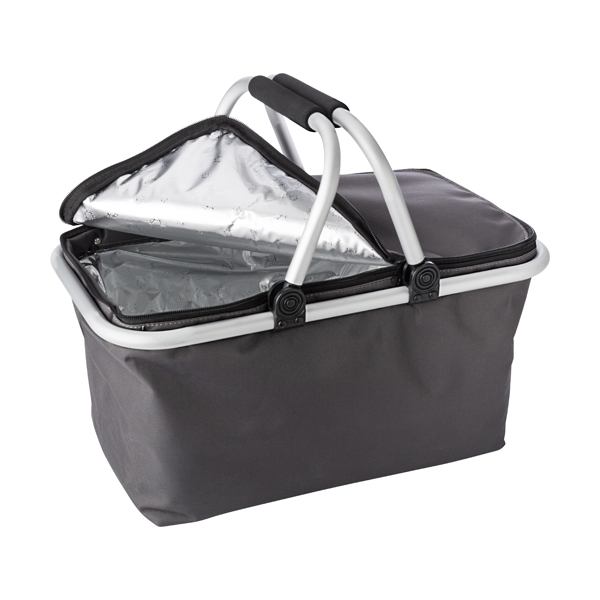 Quality groceries cooling basket in a 320D polyester material.