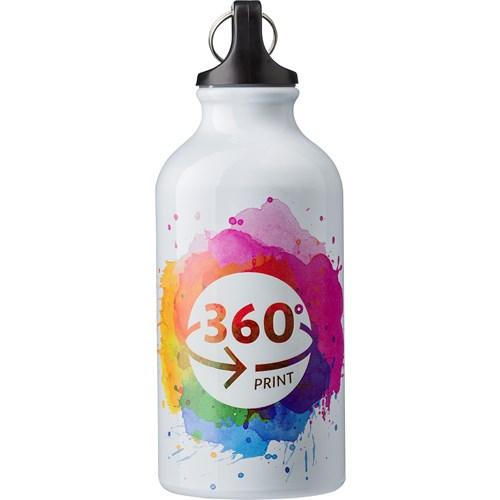 400ml Aluminium water bottle in silver