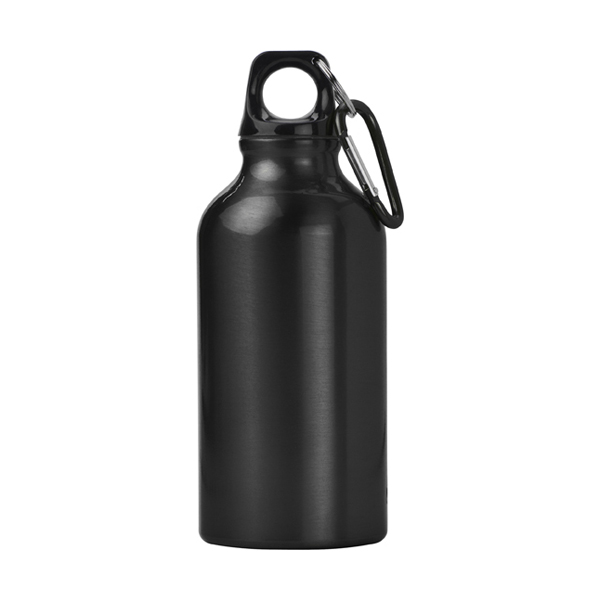 400ml Aluminium water bottle in black
