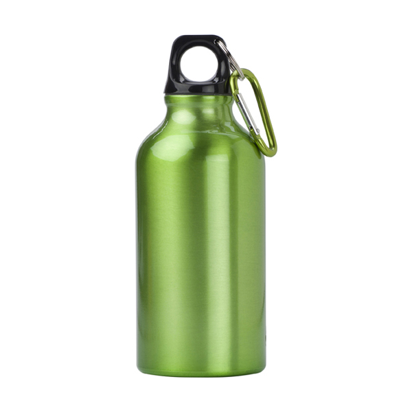 400ml Aluminium water bottle in light-green