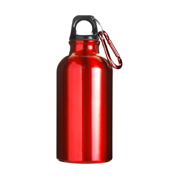 400ml Aluminium water bottle in red