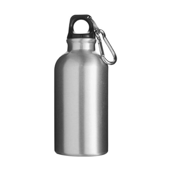 400ml Aluminium water bottle in silver