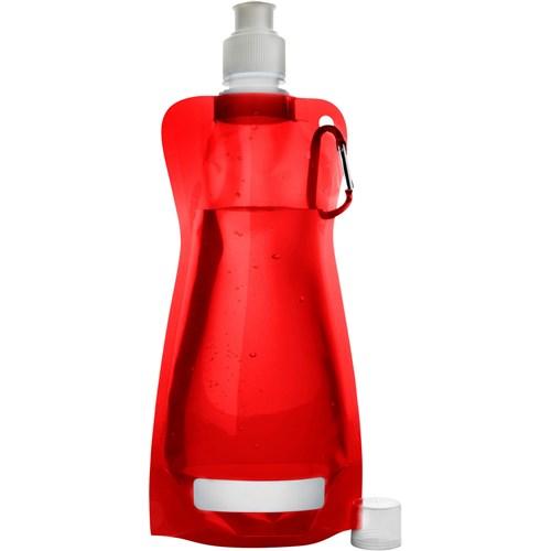 Foldable plastic water bottle in yellow