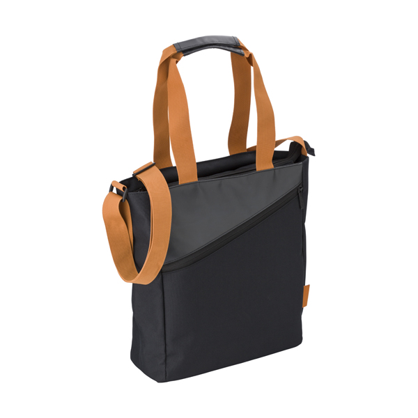 Ladies shoulder bag in a polyester 600D/PVC material.
