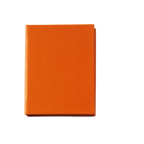 100 self-adhesive memos in orange