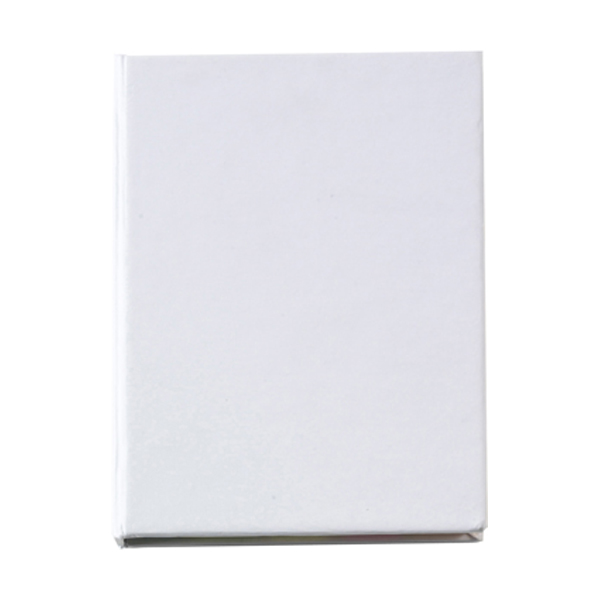 100 self-adhesive memos in white