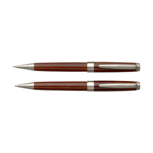 Rosewood pen set in brown
