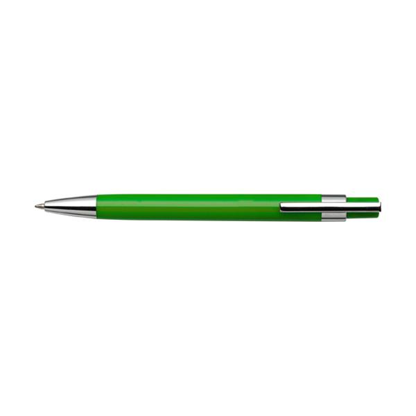 Plastic ballpen with black ink. in light-green