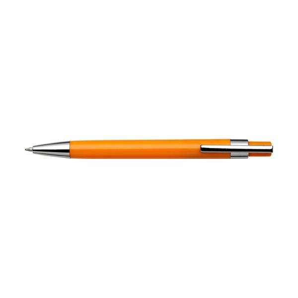 Plastic ballpen with black ink. in orange
