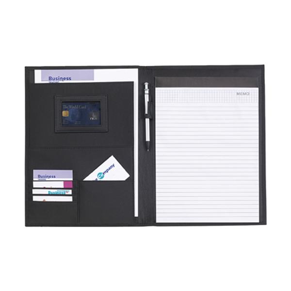 A4 conference folder in black