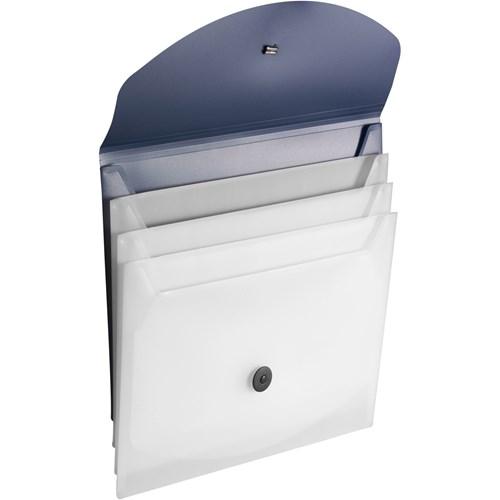 Document bag in light-blue