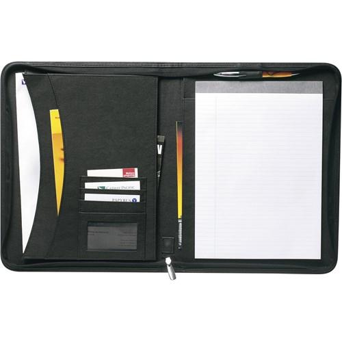A4 Bonded leather folder in black