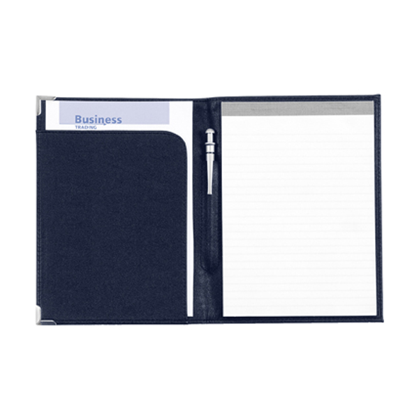 A5 folder, excl pad, (item 8500) in blue