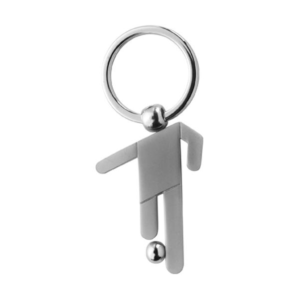 Metal key holder in silver