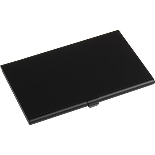 Aluminium card holder in black