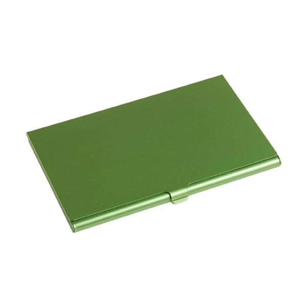 Aluminium card holder in light-green