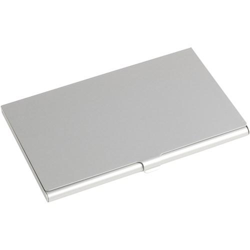Aluminium card holder in silver