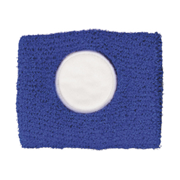 Cotton sweat band in blue