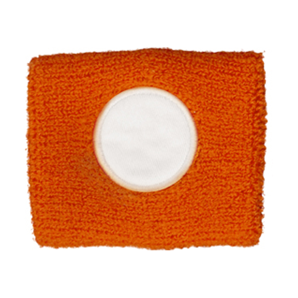 Cotton sweat band in orange