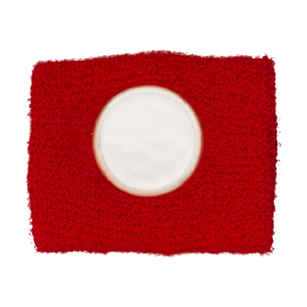 Cotton sweat band in red