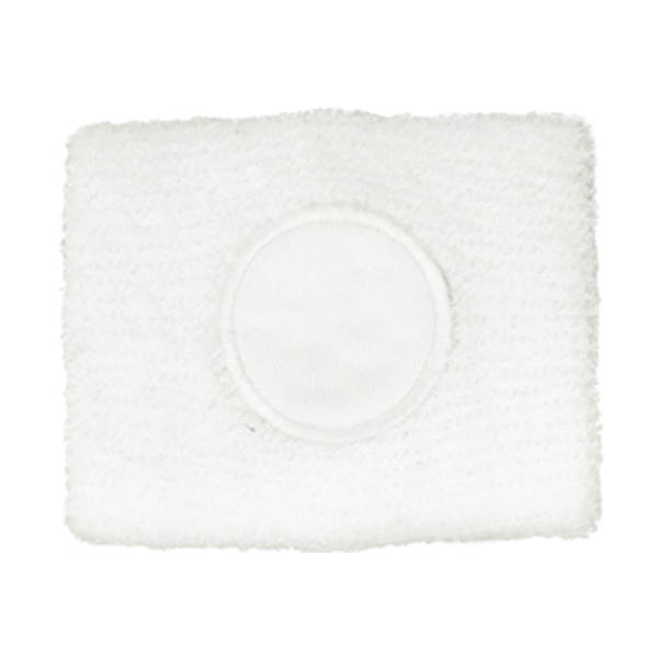 Cotton sweat band in white