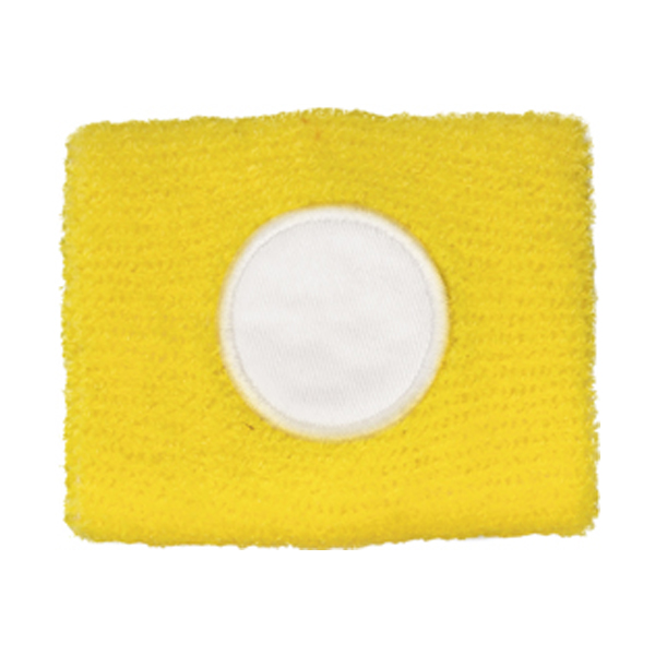 Cotton sweat band in yellow