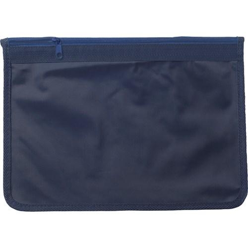 A4 nylon document bag in blue