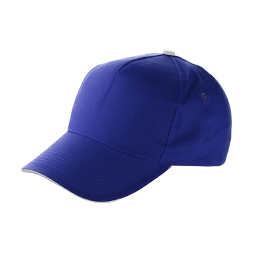 Cap with sandwich peak in cobalt-blue