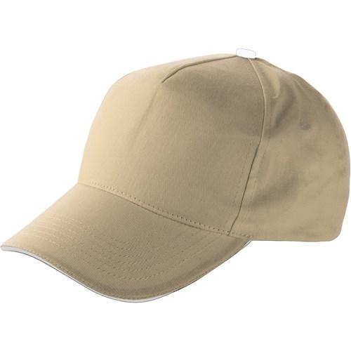 Cap with sandwich peak in khaki