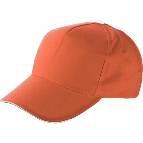 Cap with sandwich peak in orange