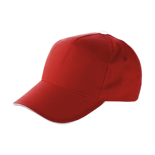 Cap with sandwich peak in red