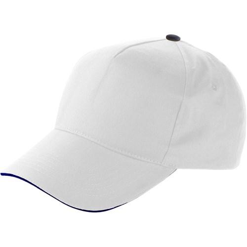 Cap with sandwich peak in white