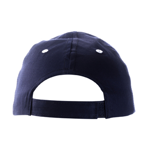 Cap with sandwich peak in blue