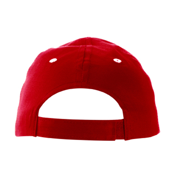 Cap with sandwich peak in red